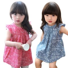 Beautiful Girls Summer Dress Cool Kids Baby Girl Floral Sleeveless Princess Dresses Vest Shirt Clothes Cotton Blended Costumes - Kid Shop Global - Kids & Baby Shop Online - baby & kids clothing, toys for baby & kid Baby Girls, Kids Girls, Baby Girl Fashion, Kids Fashion, Baby Shop Online, Girls Dresses, Summer Dresses, Stylish Kids, Summer Kids