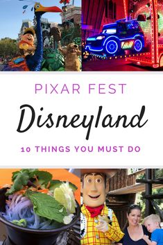 10 Things You Must do at Pixar Fest at the Disneyland Resort Disney's newest attraction is full of fun, Pixar movie characters we love, fun Pixar themed food, shows, and an amazing Pixar Fest parade. Here's what you must not miss the next time you visit Disneyland. #Disneyland #familytravel #Pixar