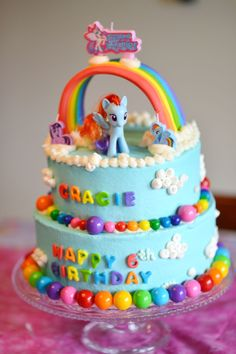 My Little Pony/ Rainbow Dash cake