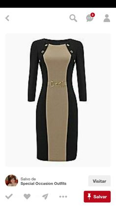 Colour block dresses figure flattering petite plus size bodycon bandage contrast shift illusion dress with side panels colourblock shoes and bags Sexy Dresses, Nice Dresses, Evening Dresses, Short Dresses, Dresses For Work, Work Fashion, Hijab Fashion, Fashion Dresses, Plus Size Bodycon