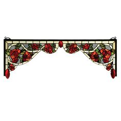 Meyda 66389 Tiffany Bed Of Roses Stained Glass Corner Bracket