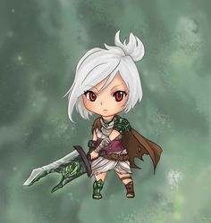 League of Legends - Riven Chibi by GM-Pi on DeviantArt