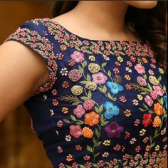 Latest Floral Blouse Designs - The handmade craft - Latest Floral Blouse Designs – The handmade craft - Designer Blouse Patterns, Fancy Blouse Designs, Bridal Blouse Designs, Blouse Neck Designs, Sari Design, Designer Kurtis, Stylish Blouse Design, Festivals, Look Chic