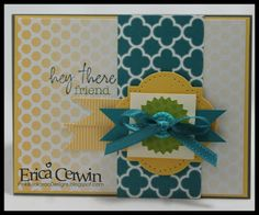 Stampin' Up! Card  by Erica Cerwin at Pink Buckaroo Designs: My Paper Pumpkin