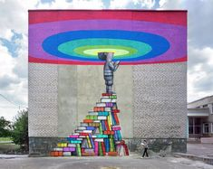 French artist Seth Globepainter is an incredibly talented Parisian street artist who travels around the world and creates unique playful street art and large-scale murals, along the way. Graffiti Murals, Street Art Graffiti, Art Du Monde, Graffiti Photography, School Murals, Art School, Art Africain, Amazing Street Art, Mural Wall Art