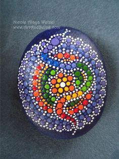 Dot-painted SOULSTONES by ArtAndBeing on Etsy