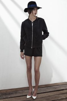 100% CUPRO JACKET IN ANTHRACITE BLACK, ENDLESS SUMMER CREPE SHORTS IN ANTHRACITE BLACK. www.fallwinterspringsummer.com Fall Winter Spring Summer, Winter Springs, Hipster, Shorts, Jackets, Collection, Black, Style, Fashion