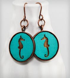 Cameo Seahorse Earrings | Women's Jewelry | Once Again Sam