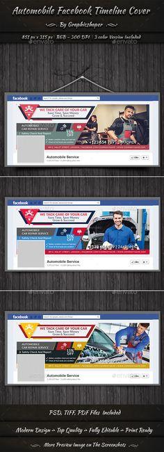 Automobile  Facebook Timeline - #Facebook Timeline #Covers #Social Media Download here: https://graphicriver.net/item/automobile-facebook-timeline/20336048?ref=alena994
