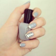 Converse Nail Art featuring Zoya Nail Polish in Kristen and Zoya Trixie via Instagram: lifelessmind