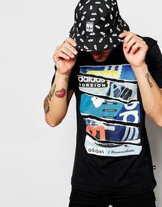 Imagen 1 de Camiseta con estampado de catálogo AH9792 de adidas Originals