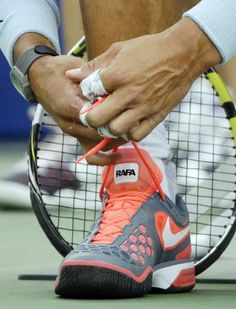 Shoes of Rafael Nadal. #tennisplanet.com