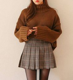 Korean winter outfits, skirt outfits for winter, mini skirt outfits, korean fashion fall Mode Outfits, Fashion Outfits, Fashion Clothes, Women's Fashion, Fashion Ideas, Fashion Pants, Dress Fashion, Fashion Trends, Dress Outfits