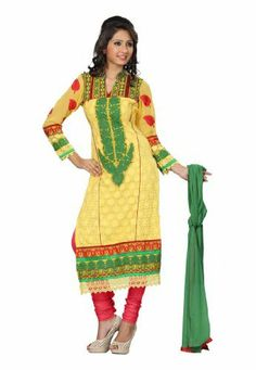 Fabdeal Indian Designer Georgette Yellow Embroidered Salwar Fabdeal Inc, http://www.amazon.fr/dp/B00IRBA0LS/ref=cm_sw_r_pi_dp_uOuotb13XABPA
