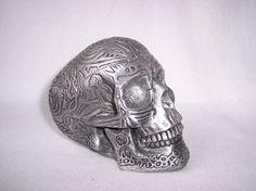 Summit Collection Tribal Tattoo Fantasy Human Skull '99 WUI Halloween Nude Ash