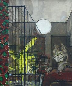 Ruskin Spear is a well-known portrait painter, people in pubs and cats populate his works. One of the cats must have been his own, Trixie. Using broad brush Lots Of Cats, Impressionist Artists, Royal College Of Art, Cat Colors, Global Art, Sculpture, Gravure, Art Market, Cat Art
