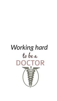 Medicina Wallpaper Working Hard to be a Doctor