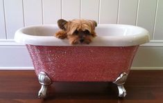 her own PINK bathtub