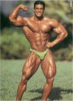 NJ bodybuilder Franco Santoriello tans up by the pool