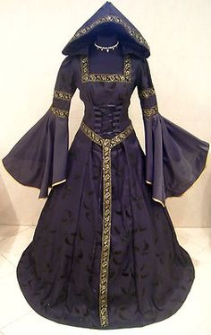 Medieval Wedding Dress Victorian Goth Witch XXL XXXL 22 24 26 Vampir x mas Black | eBay