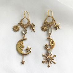 Nikki Witt Moon Man Earrings