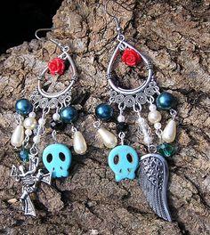 The Walking Dead Earrings Daryl Fan Zombie Angel by shabbyskull, $15.00