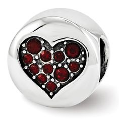Sterling Silver Reflections Swarovski Crystal Jan-Faith Bead