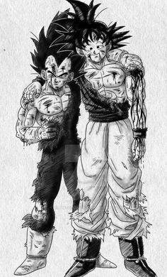 Goku and Vegeta End of the Road