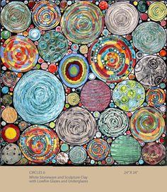 Circles 6 by Michal Golan (Ceramic Wall Sculpture) Sculpture Clay, Wall Sculptures, Mosaic Art, Mosaic Glass, Fused Glass, Stained Glass, Glass Art, Art Graphique, Ceramic Artists
