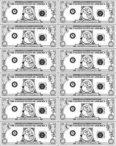 Casino Play Money Template