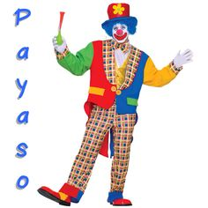 Clown   E payaso ta bistí kolorido - The clown wears colourful clothing! Visit: henkyspapiamento.com #papiamentu #papiaments #papiamento #language #aruba #bonaire #curaçao #caribbean #clown #payaso #palhaço
