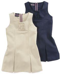 Love this dress! Nautica Kids Dress, Little Girls Uniform Pleated Jumpers - Kids Girls 2-6X - Macy's $20.40 #MacysBTS