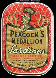 Medallion brand sardine can, Lubec, pre-1963 . Item #36099 on Maine Memory Network
