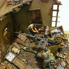 Diorama Flak This is the best I've seen J. Military Figures, Military Diorama, Diorama Militar, Tamiya Model Kits, Model Maker, Model Tanks, Model Hobbies, Military Modelling, Toy Soldiers