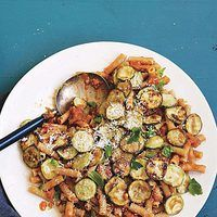 Ratatouille Riggies: Eggplant Marinara with Rigatoni and Zucchini - Vegetarian and MSPI friendly!