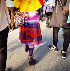 Looove this skirt and totally know how to make one of my own #protest #fashion #marching #silentmarch #pink #red #purple #skirt #apparel #clothing #design