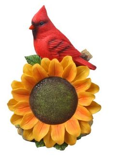 Moonrays 91342 Cardinal With Sunflower And Outdoor Solar Powered LED Light  By Moonrays. $17.06