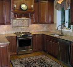 Backsplash Ideas For Cherry Cabinets | Home | Pinterest | Cherry ...