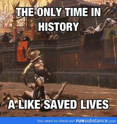 Time when likes saved lives