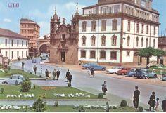 1980 LUGO, SPAGNA - Calle y puerta de san Fernando - Iglesia de san Froilan