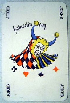 Henri Bellery-Desfontaines - Cartes à Jouer - 1898 - Fossorier Amar et Cie Joker Playing Card, Joker Card, Unique Playing Cards, Vintage Playing Cards, House Of Cards, Deck Of Cards, Jester Tattoo, Pierrot Clown, Skull Stencil