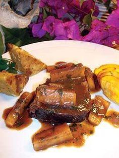 Slow-Cooked Garlic & Herb-Studded Elk Roast