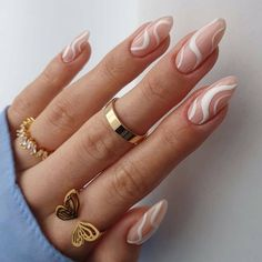 Almond Acrylic Nails, Simple Acrylic Nails, Best Acrylic Nails, Simple Nails, Edgy Nails, Stylish Nails, Nude Nails, Swag Nails, Milky Nails