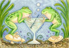 Art 'DRAGONFLY MARTINI' - by Susan Brack from FROG
