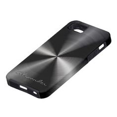 Alexander Black Stainless Steel iPhone 5 Cover