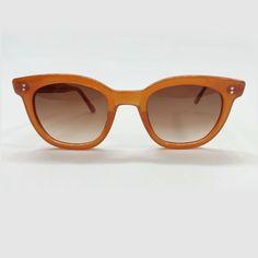Vtg 70s STYLE EYES ITALIAN Burnt Orange Nylon Horn Rim Gradient Sunglasses #StyleEyes