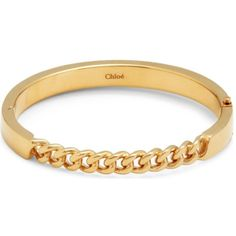 CHLOE Carly gold-toned chain-link bracelet ($405) ❤ liked on Polyvore