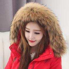 Real Raccoon Fur Scarf Women 100% Natural Raccoon Fur Collar Winter Warm Fur Collar Scarves Design For Lady Long 80cm Width 13cm