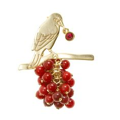 Similar to some of my vintage pieces  J.Crew - Marc Alary™ for J.Crew birdberry brooch
