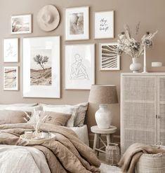 Room Ideas Bedroom, Home Decor Bedroom, Living Room Decor, Design Bedroom, Beige Room, Beige Walls Bedroom, Beige Bedrooms, Pink And Beige Bedroom, Beige Bedding